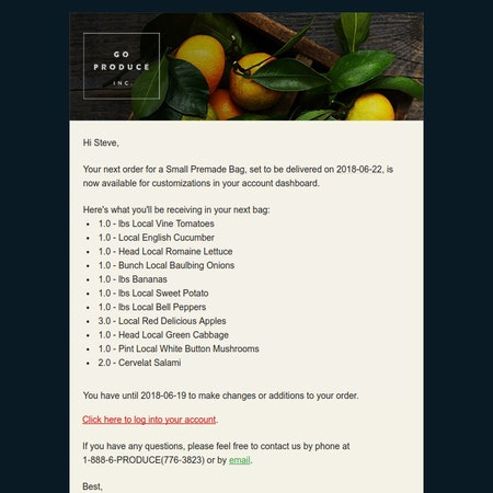 Goproduce email 3